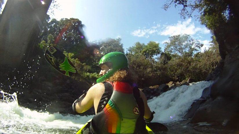 Shon Bollock Waterfall Drop - First Descent   aquasport.tv
