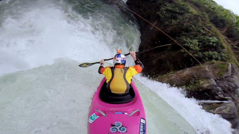Dane Jackson's 60ft Waterfall Drop   aquasport.tv