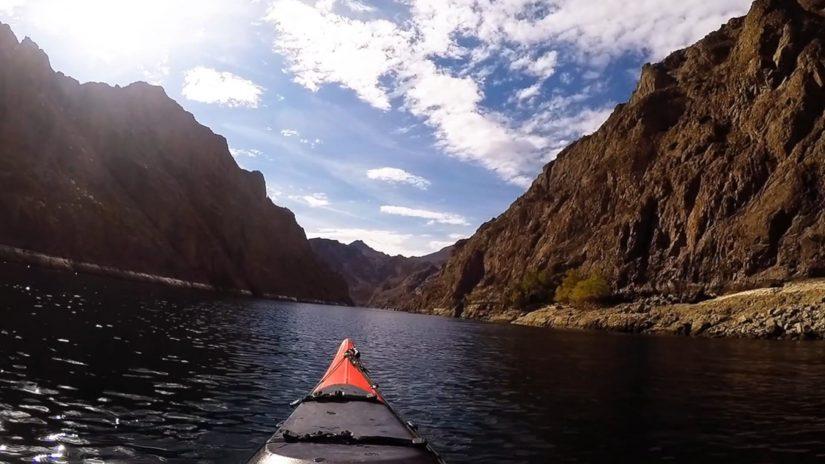Kayaking down the Colorado