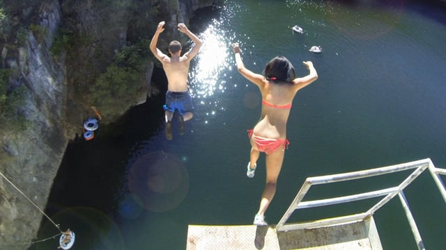 Matilija Dam Cliff Jumping | aquasport.tv