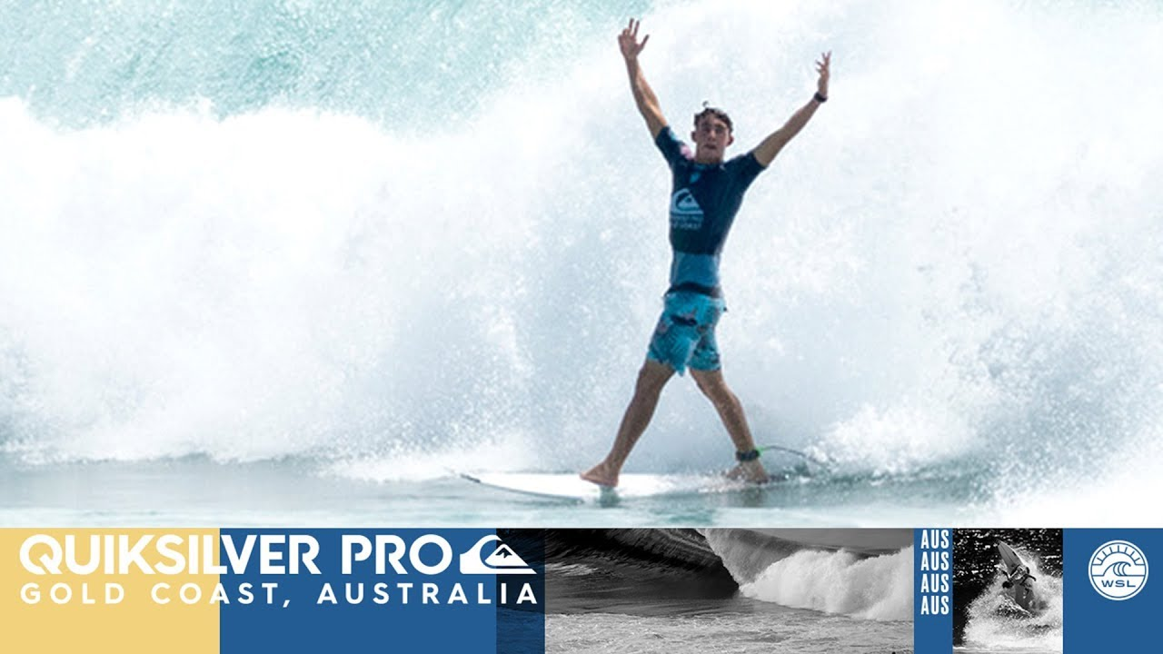 Griffin Colapinto's Triple Barrel, Holy Graal of surf, during Quiksilver Pro Gold Coast 2018