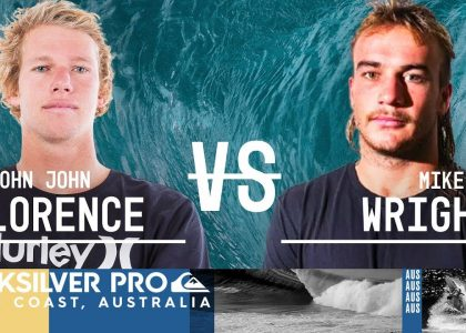John John Florence vs. Mikey Wright Round Two Heat 1 Quiksilver Pro Gold Coast 2018