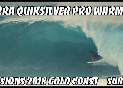 KIRRA PUMPS DAWN WARM UP WSL QUIKSILVER PRO 2018 SURFING GOLD COAST EX CYCLONE LINDA AUSTRALIA