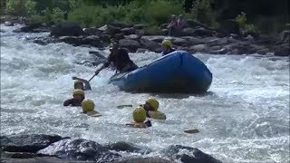 Ocoee River Whitewater Rafting Carnage and Kayak Surfing