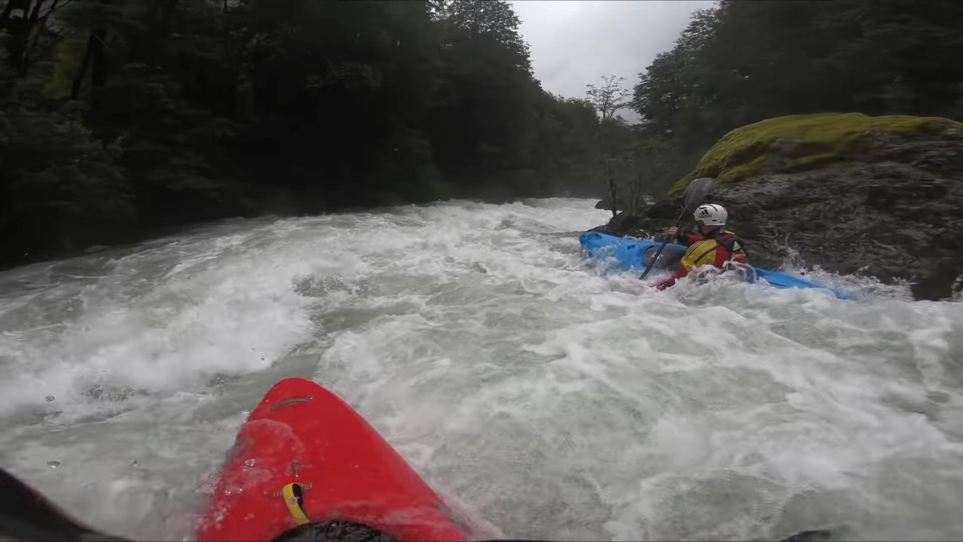 "Screenshotter KayakingdownafloodedriverPuescoriveratinsaneflowshighestdescent 3'56"""